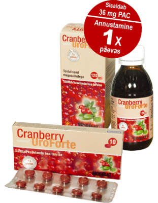 UROFORTE CRANBERRY TBL N10