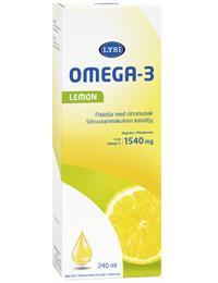 LYSI OMEGA-3 KALAõLI 1540MG/5ML LEMON 240ML