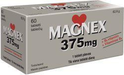 MAGNEX 375MG+B6 TBL N60