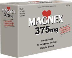 MAGNEX 375MG+B6 TBL N200