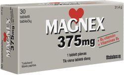 MAGNEX 375MG+B6 TBL N30