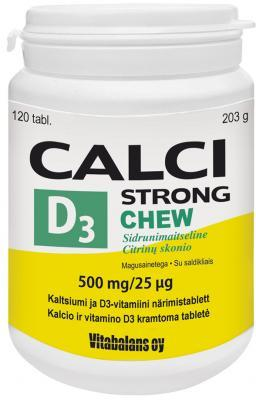 CALCISTRONG + D3 CHEW TBL N120 LEMON _