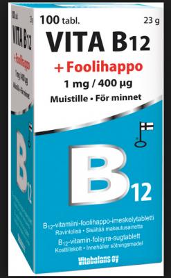 VITA B12+FOOLHAPE TABL  1MG/400MCG N100