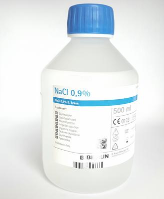 NATRII CHLORIDUM LOPUTUSLAHUS 0,9% 500ML