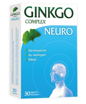 GINKGO COMPLEX  NEURO TAB N30