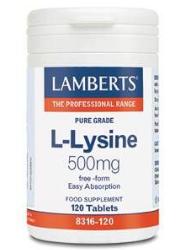 LAMBERTS L-LÜSIIN 500MG TABL N120