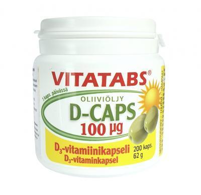 VITATABS D3 CAPS 100 MKG  (4000 IU) ÕLIKAPSLID N200
