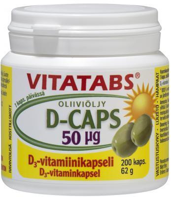 VITATABS D3 CAPS 50 MKG (2000 IU) ÕLIKAPSLID N200