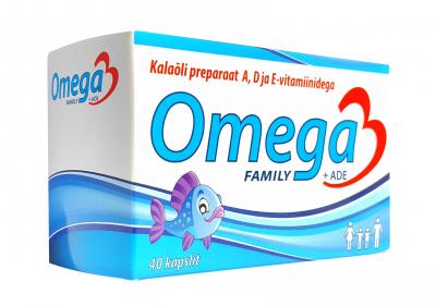 OMEGA-3 FAMILY  ADE CAPS N40