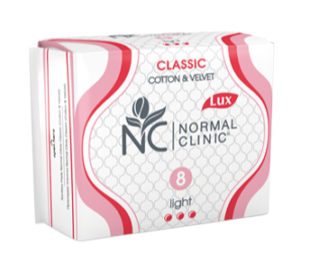 HÜGIEENISIDE CLASSIC NORMAL CLINIC LIGHT N8
