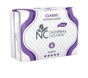 HÜGIEENISIDE CLASSIC NORMAL CLINIC SUPER N6