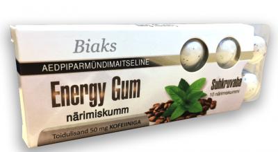 BIAKS NÄRIMISKUMM ENERGY GUM N10 (SUHKRUVABA)