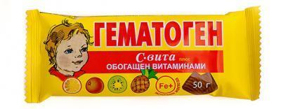 HEMATOGEEN  VITAMIINIDEGA 50G Venemaa