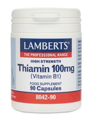 LAMBERTS VITAMIIN B1 (TIAMIIN) 100mg  CAPS N90