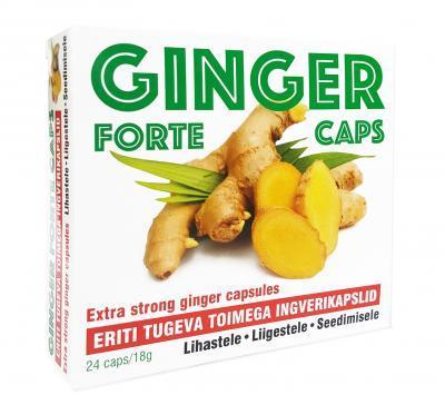 GINGER FORTE  CAPS INGVERI KAPSLID  N24