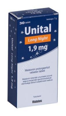 UNITAL Long Night 1,9 MG MELATONIINI TBL N30
