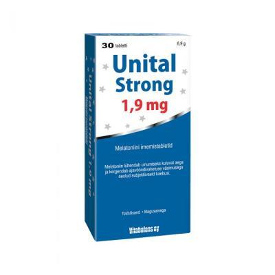 UNITAL Strong 1,9 MG MELATONIINI TBL N30