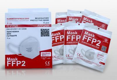 RESPIRAATORMASK FFP2NR  5-kihiline VALGE  N6