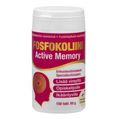 FOSFOKOLIINI ACTIVE MEMORY LETSITIINI TAB  N150